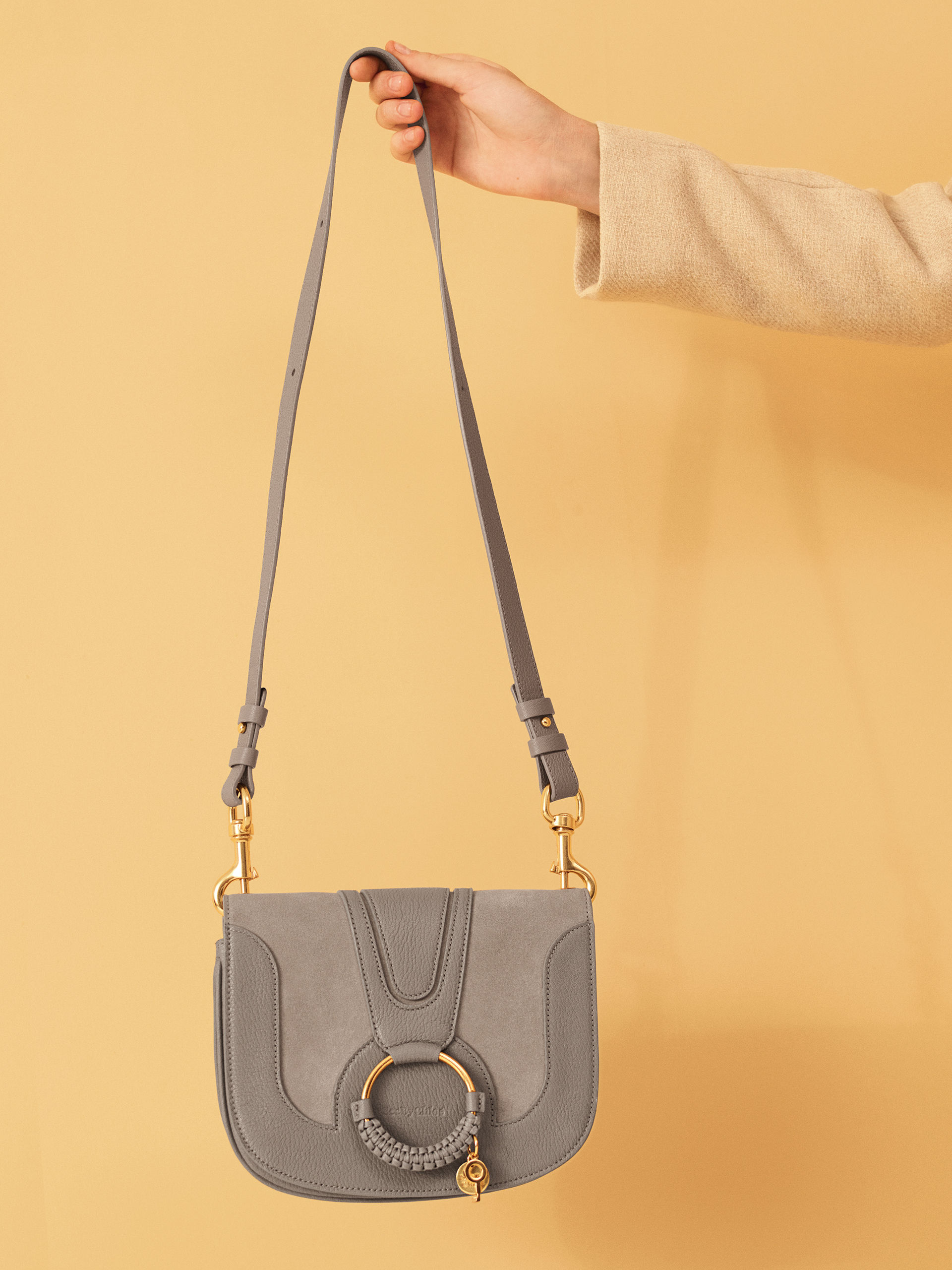 See by Chloe - Hana Shoulder Bag Suede - Motty Grey