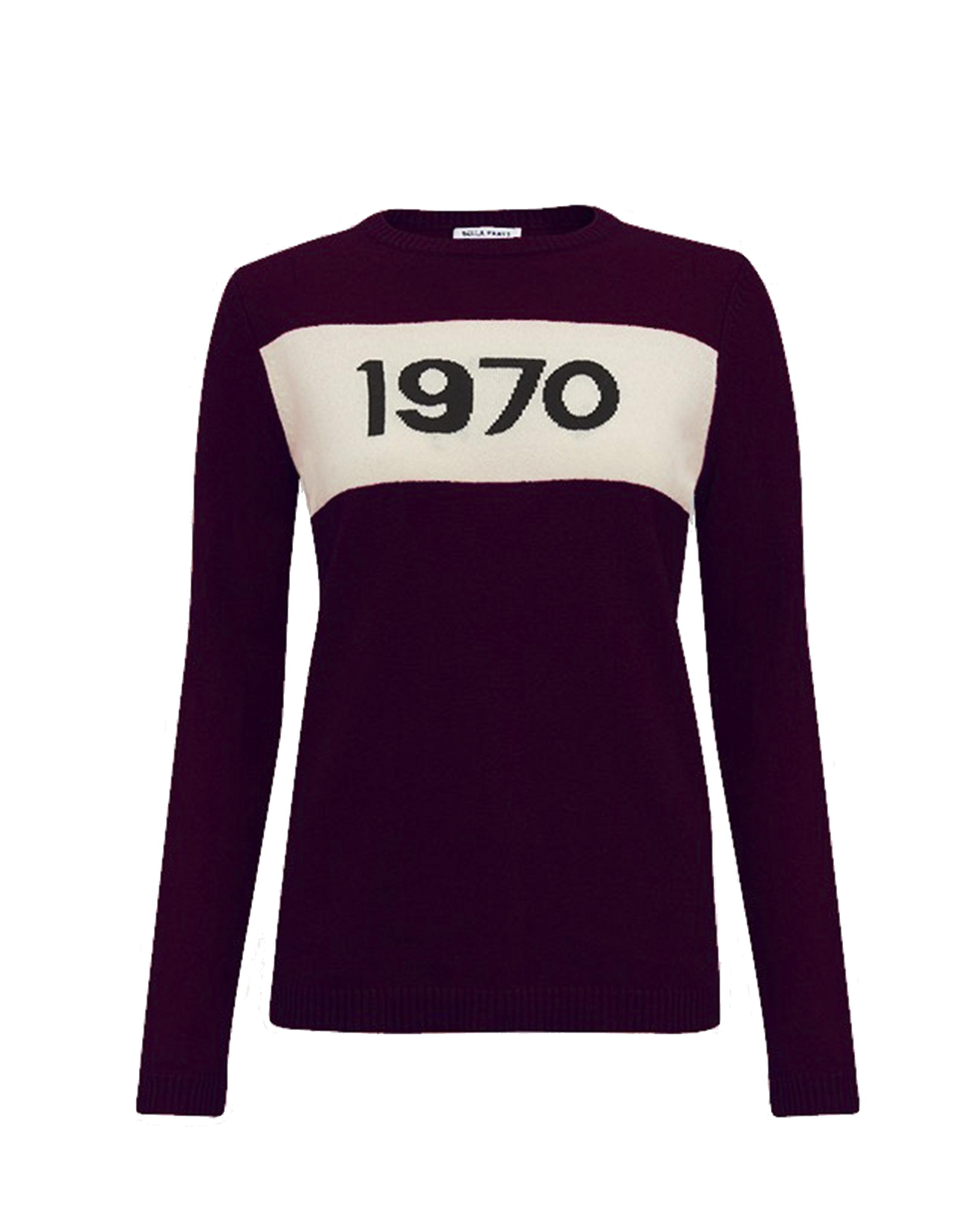 Bella Freud 2 - 1970 Merino Jumper - Burgundy