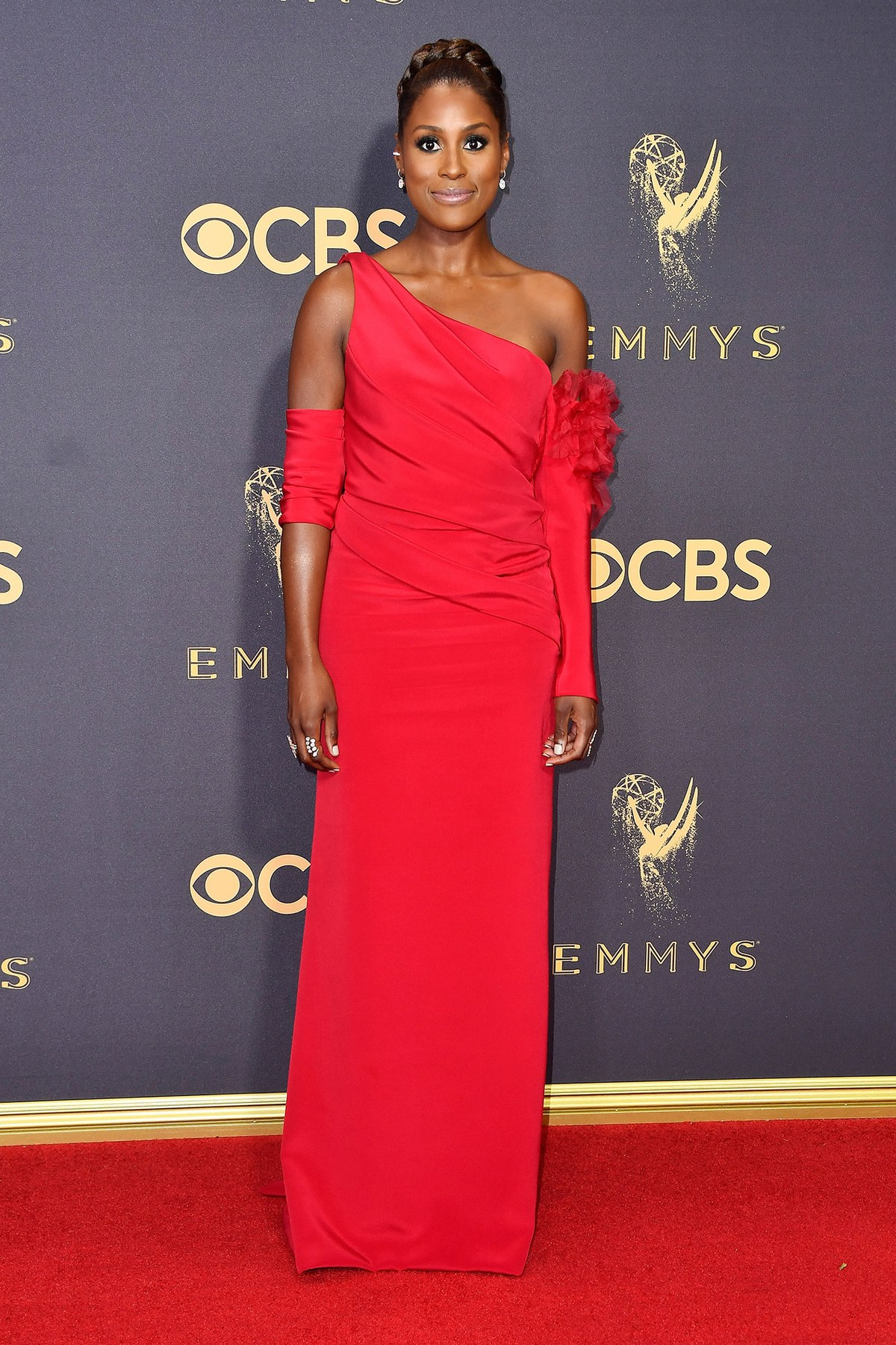 Issa Rae wearing custom Vera Wang
