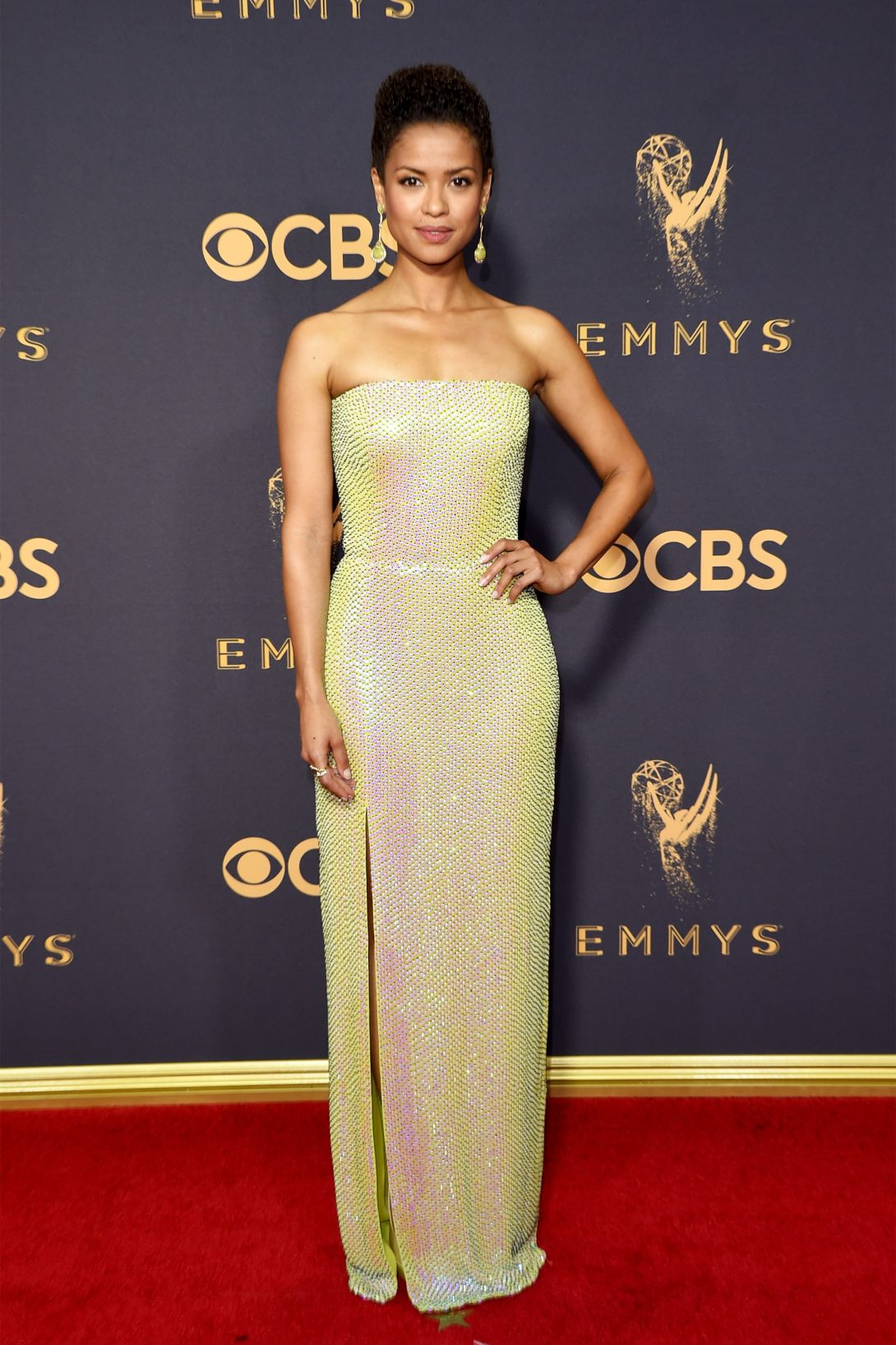 Gugu Mbatha-Raw wears Boss