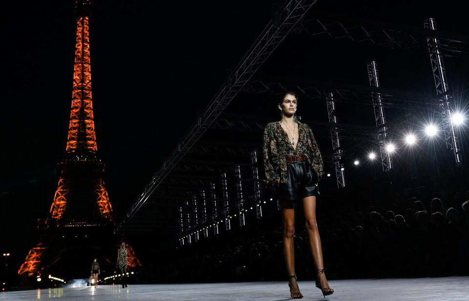Paris Fashion Week opened with the YSL show in front of the Eiffel Tower