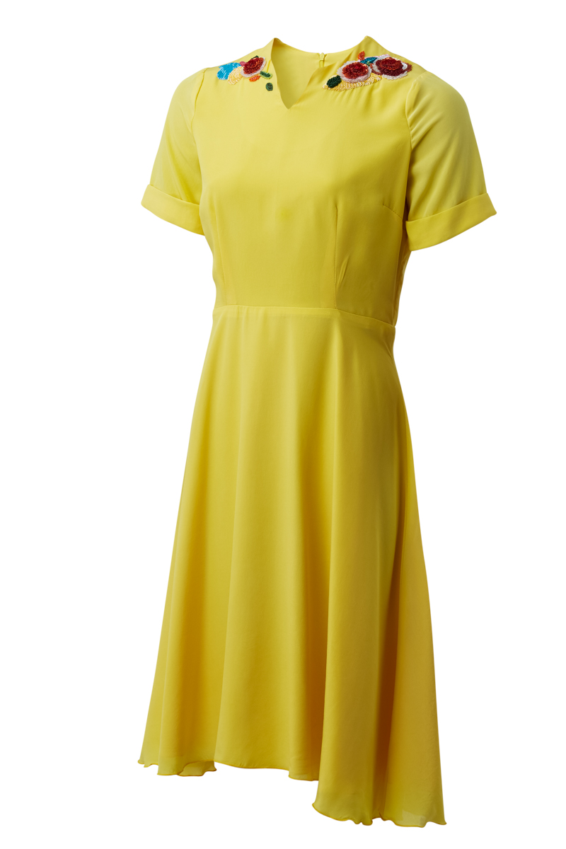 ANITA DRESS IN YELLOW