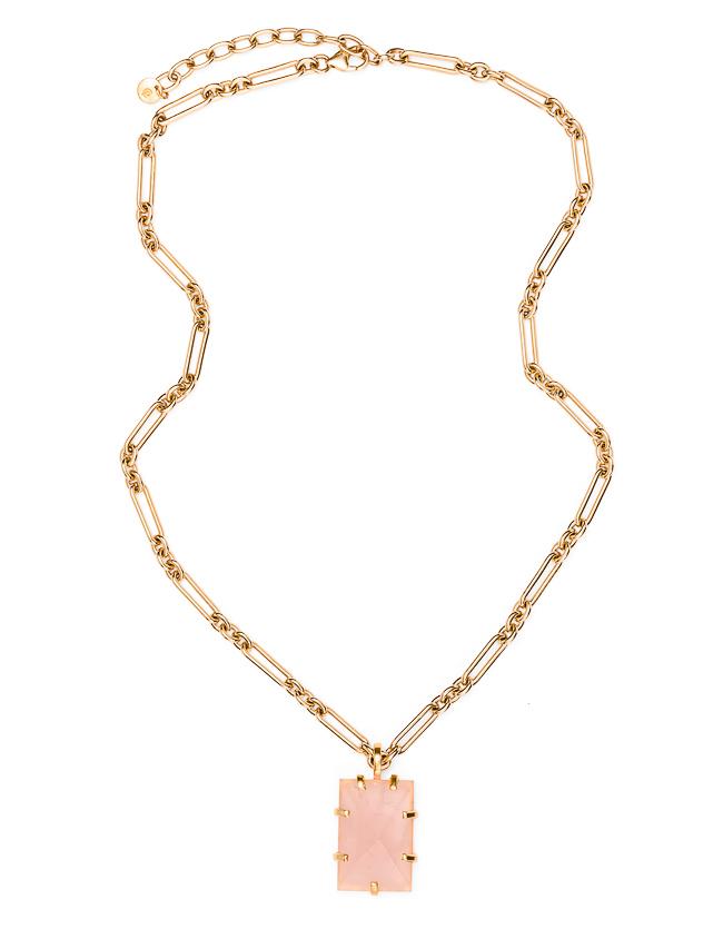 Arezzo Rose Quartz Gold_$349