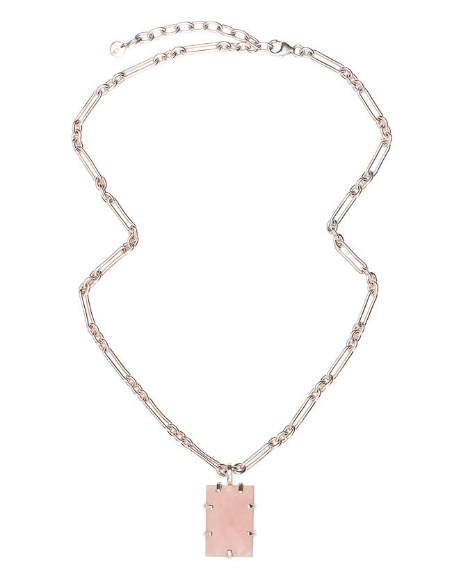 Arezzo Rose Quartz Silver_$339
