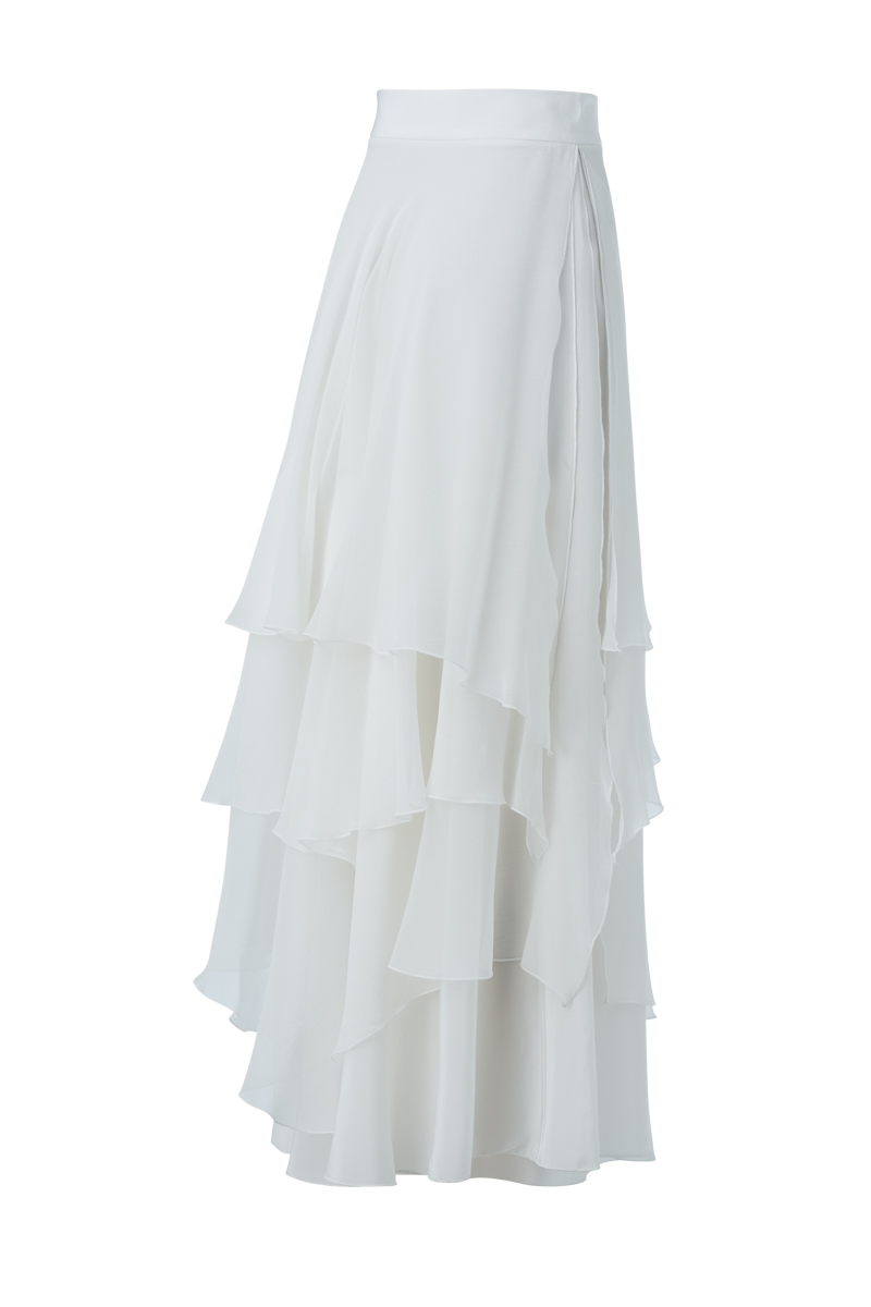 LEELA SKIRT IN WHITE BACK
