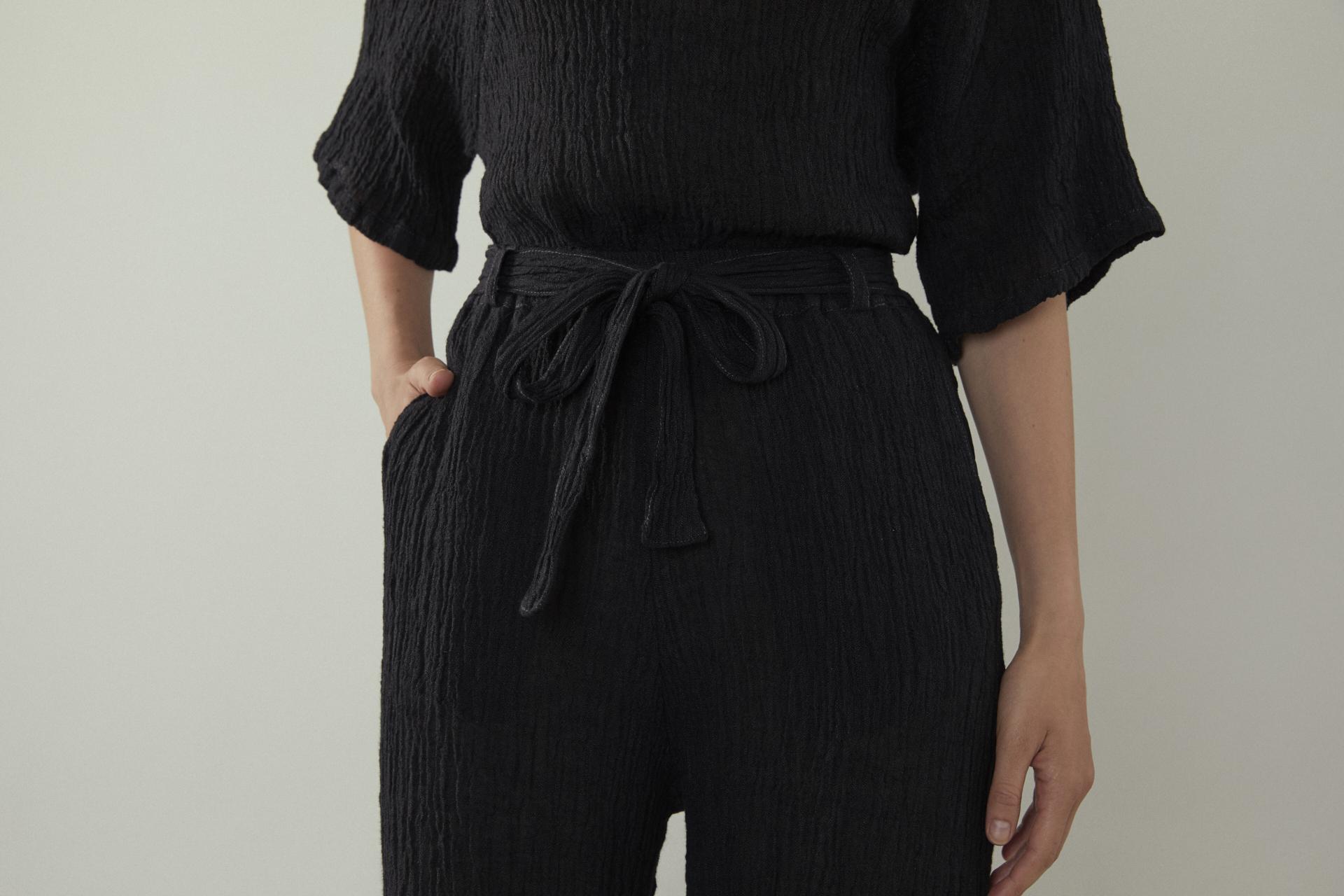 Nov Pant - Black Linen 4