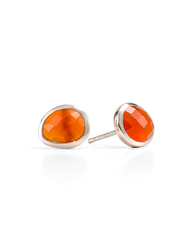 Red Onyx silver studs_$139