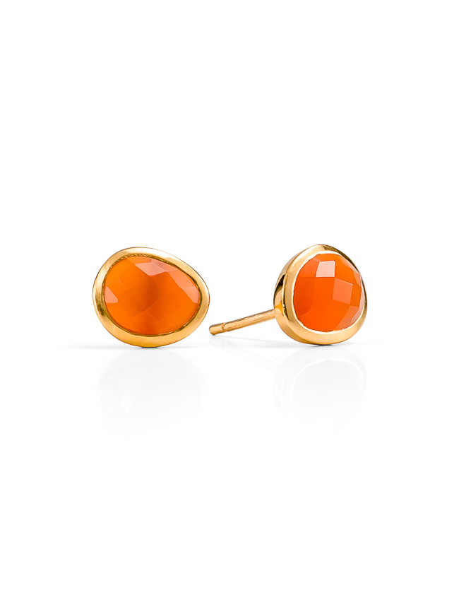 Red onyx gold studs_$149