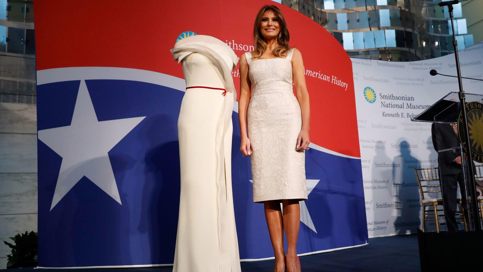 Melania Trump donated her inauguration ball dress by Hervé Pierre to the Smithsonian museum.