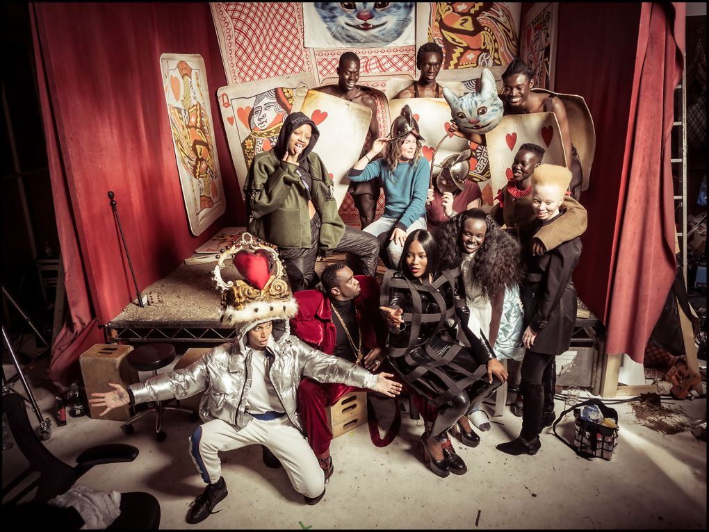 The annual Pirelli Calendar has been shot for 2018, and is inspired by Alice In Wonderland with all black models and styling by Edward Enninful.