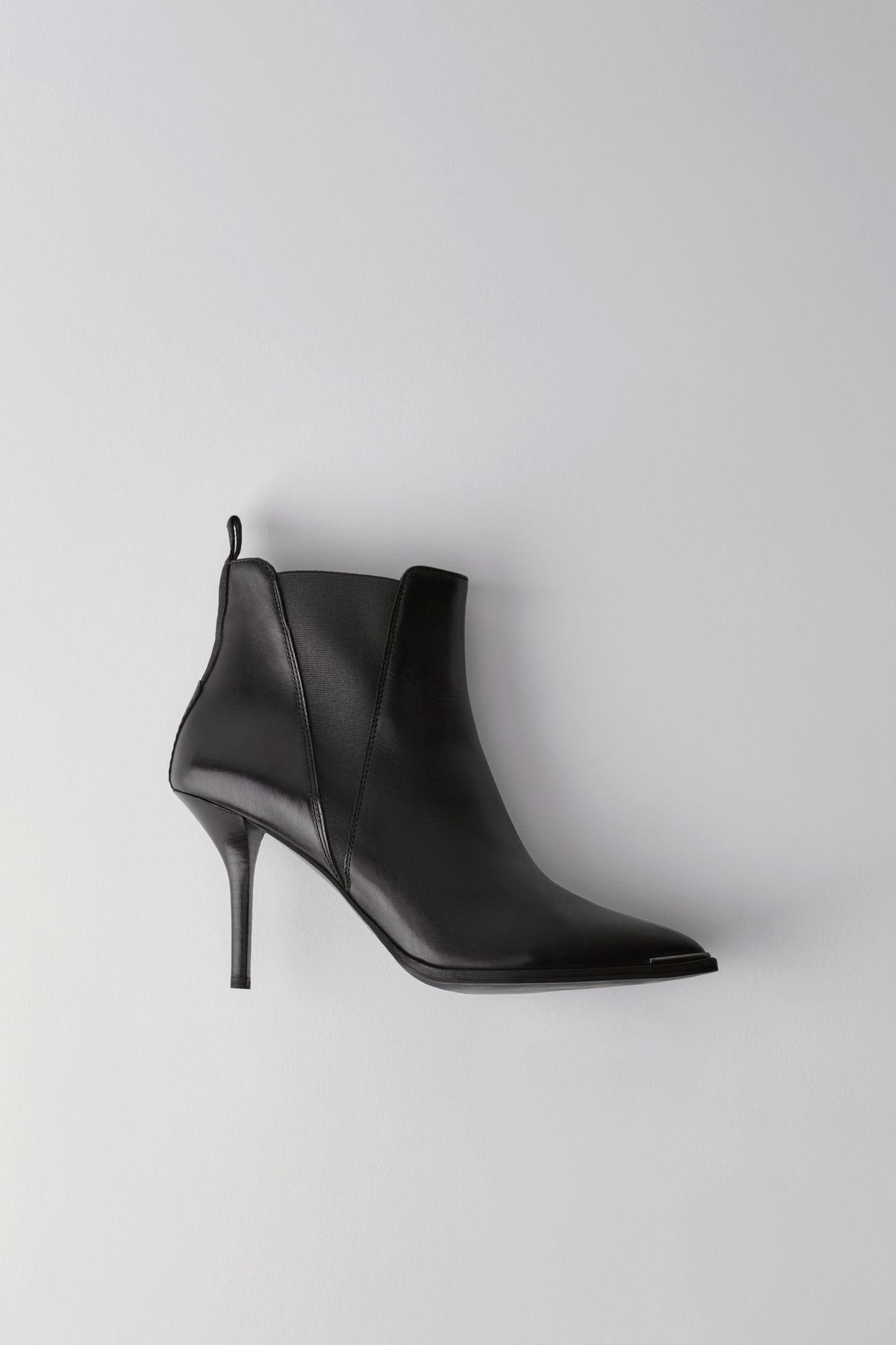 Acne Studios 4 - Jemma Leather Heeled Boot - Black