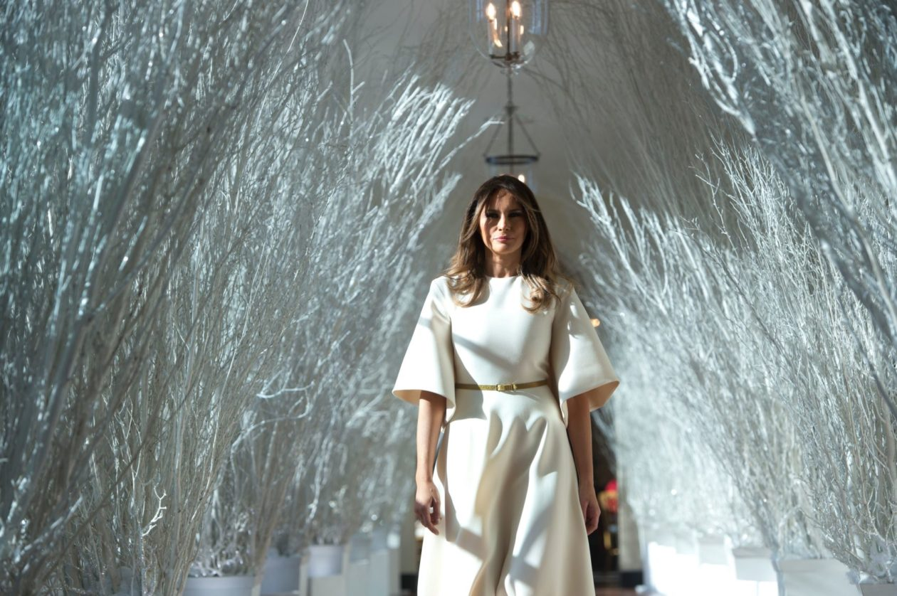 Melania Trump has unveiled the White House Christmas decorations.