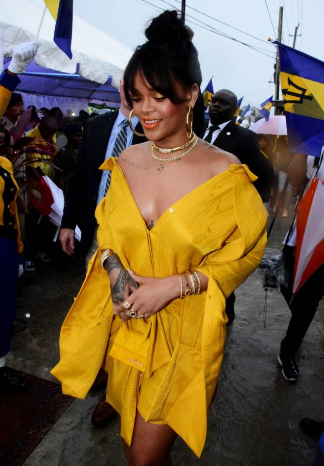 Barbados has renamed the street Rihanna grew up on as Rihanna Drive, and Rihanna herself attended the festivities in all yellow.