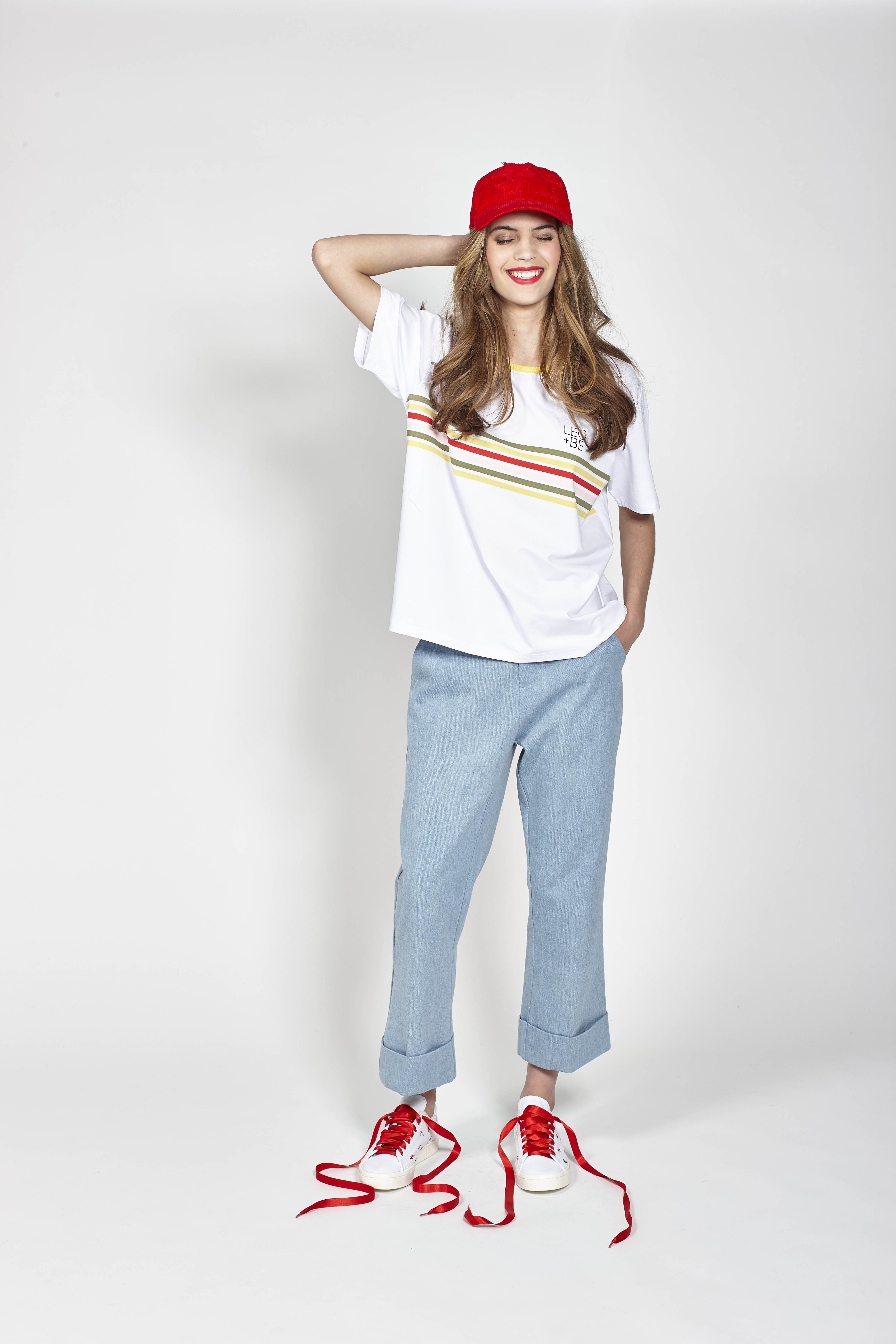 LB1071 LEO+BE California Tee, RRP$98.00 and LB1094 LEO+BE Rad Pant, RRP$159.00