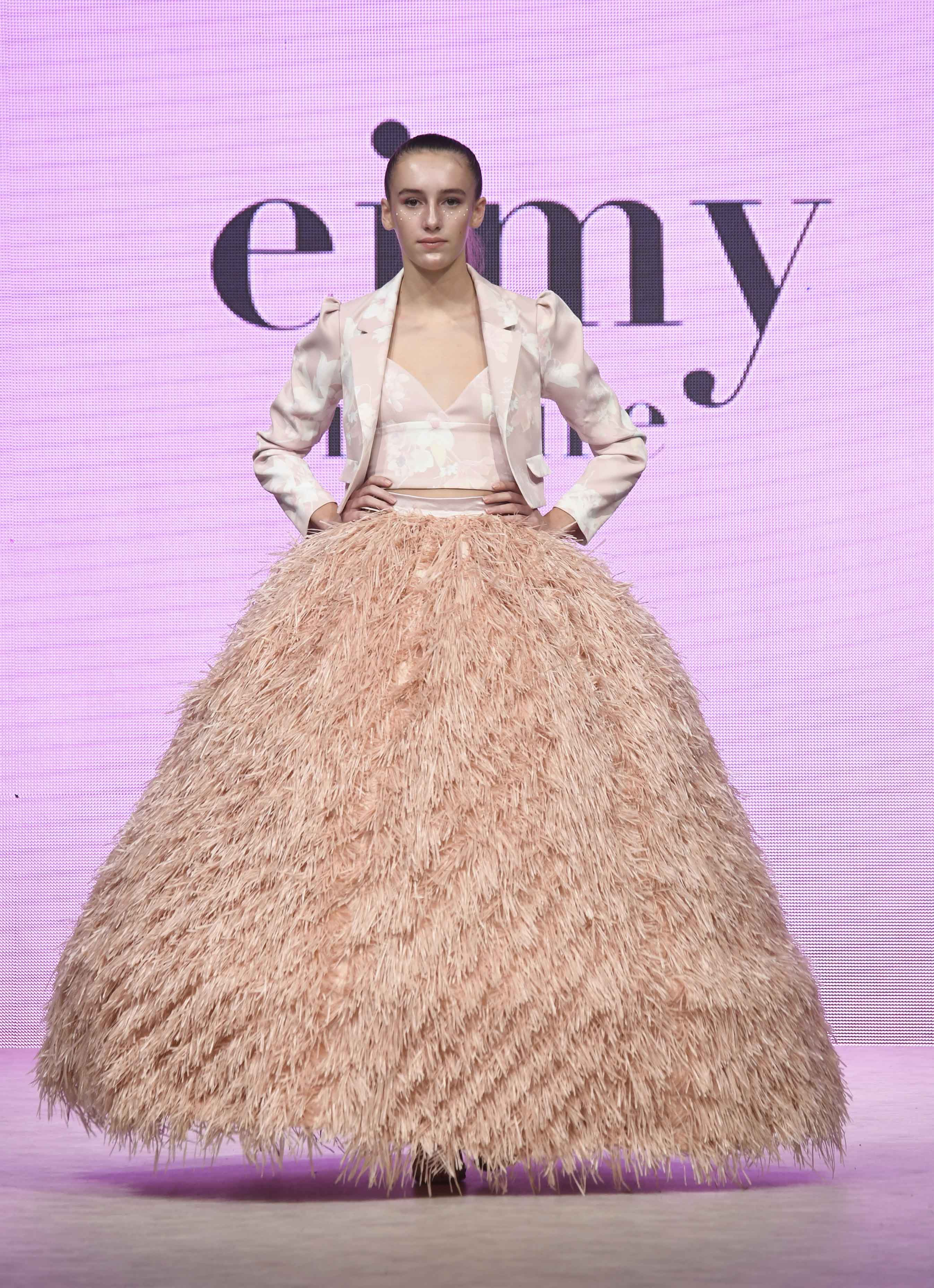 VANCOUVER, BC - SEPTEMBER 22:  A model walks the runway wearing eimy istoire at Vancouver Fashion Week Spring/Summer 19 - Day 6on September 22, 2018 in Vancouver, Canada.  (Photo by Arun Nevader/Getty Images for VFW Management INC)