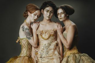 parasite eve designs by eve jenkins. models in fairy tale-inspired clothing
