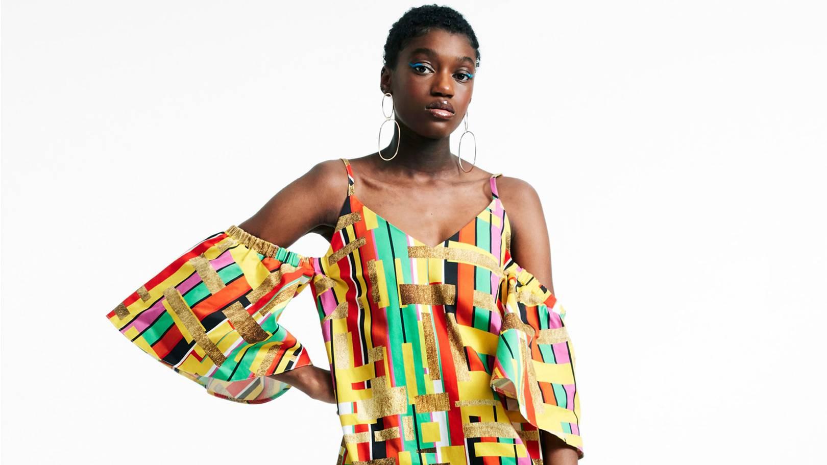 woman wearing ASOS dress