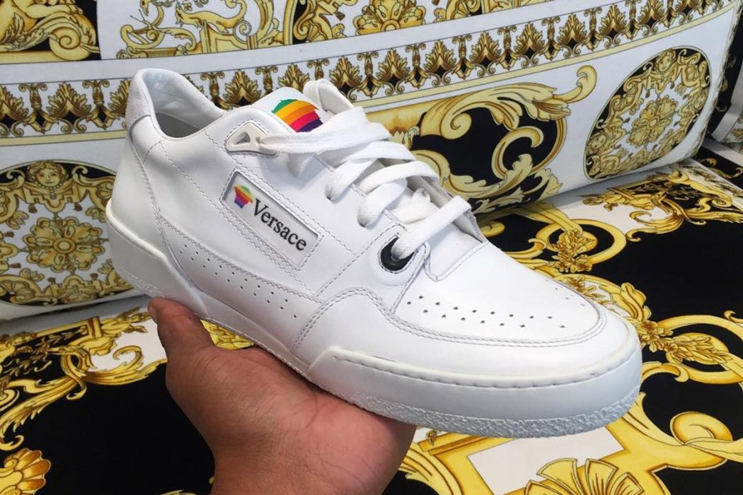 Versace Apple sneakers.