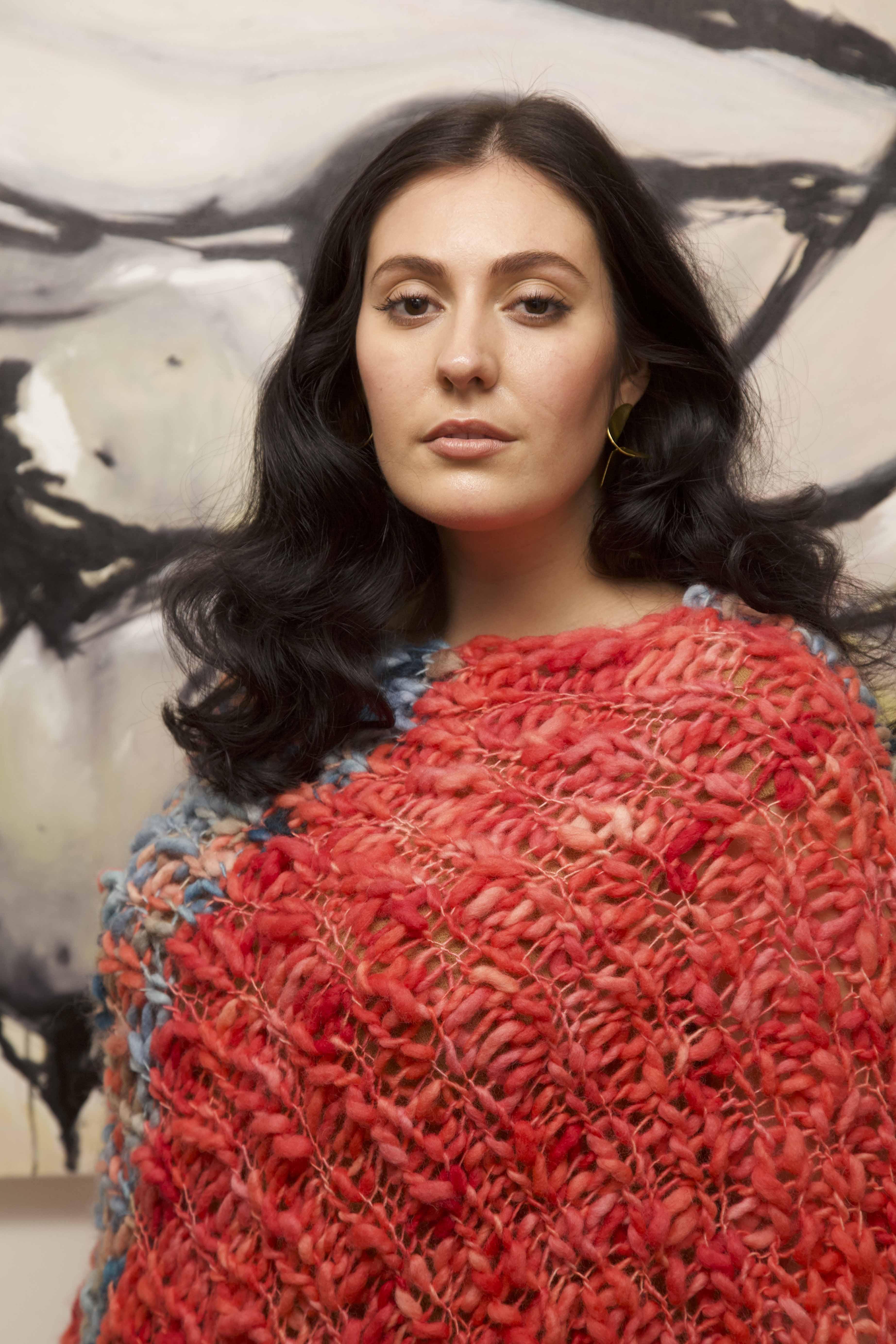 LISA AVIVA-A_W 19_20 Blanket Poncho in Coral