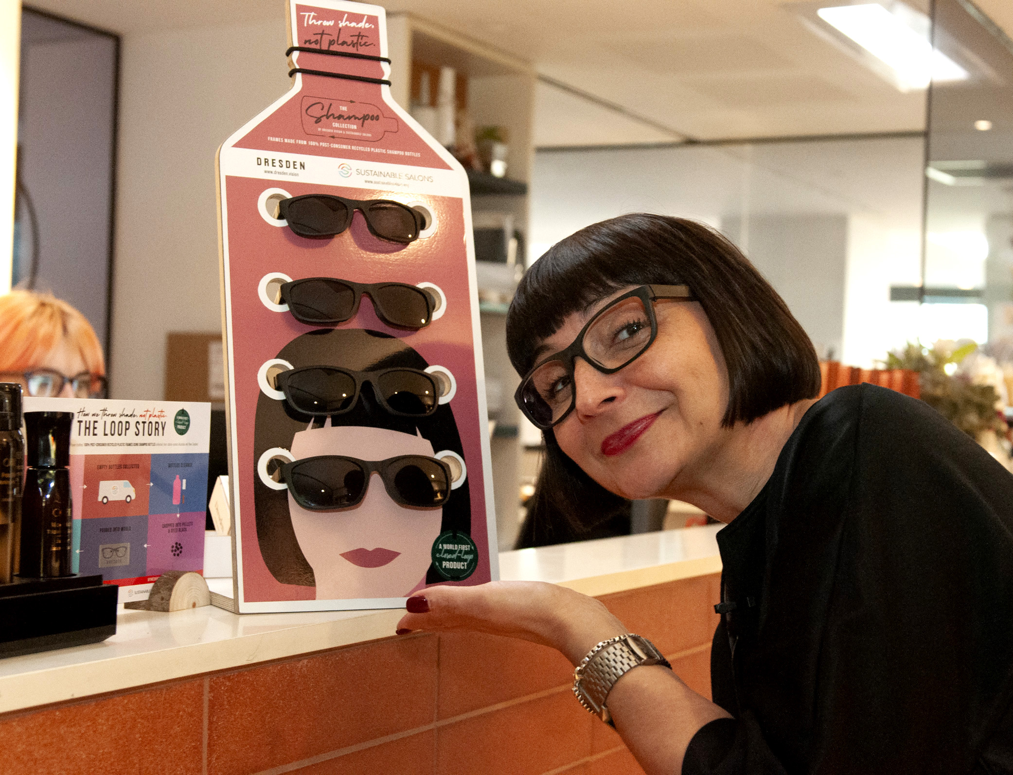 16. NSW Spotlight Salon owner Jayne Wild with The Shampoo Collection in-salon merchandise
