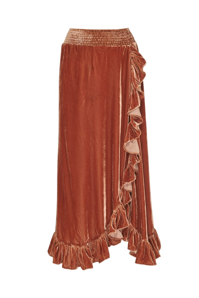LS1652 Elena Skirt Gingerbread FR-1