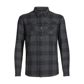 Mens Lodge LS Flannel Shirt - Black - RRP_ $189.99