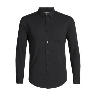 Mens Steveston LS Flannel Shirt - Black - RRP_ $199.99