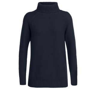 Womens Waypoint Roll Neck Sweater - Navy - RRP_ $249.99