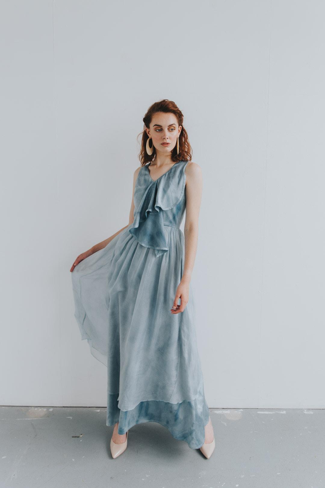 Waterfall Dress Celeste Elena SS2020 (1)-1