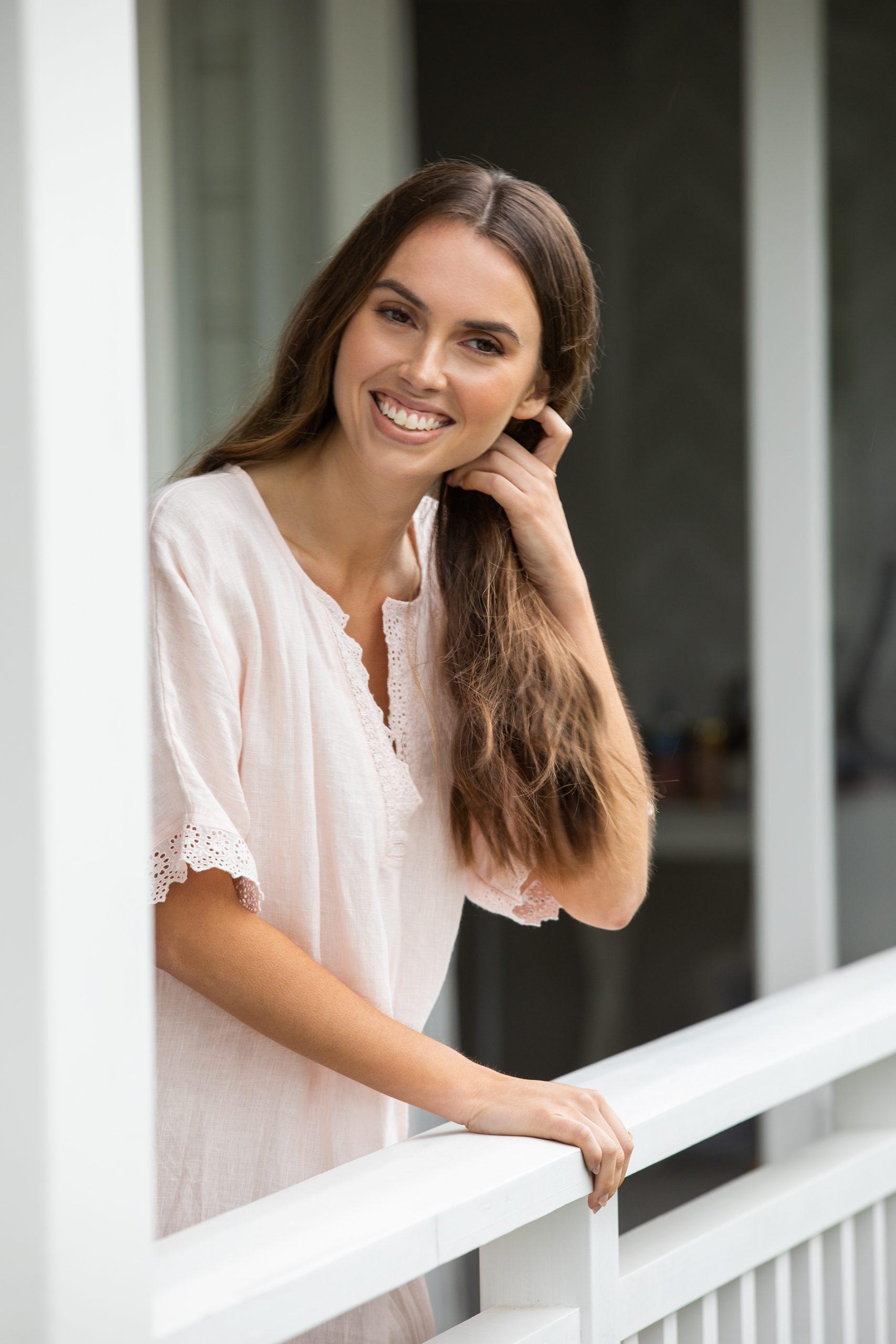 Wallace Cotton Journey Linen Lace Dress Blush 6 $119.90