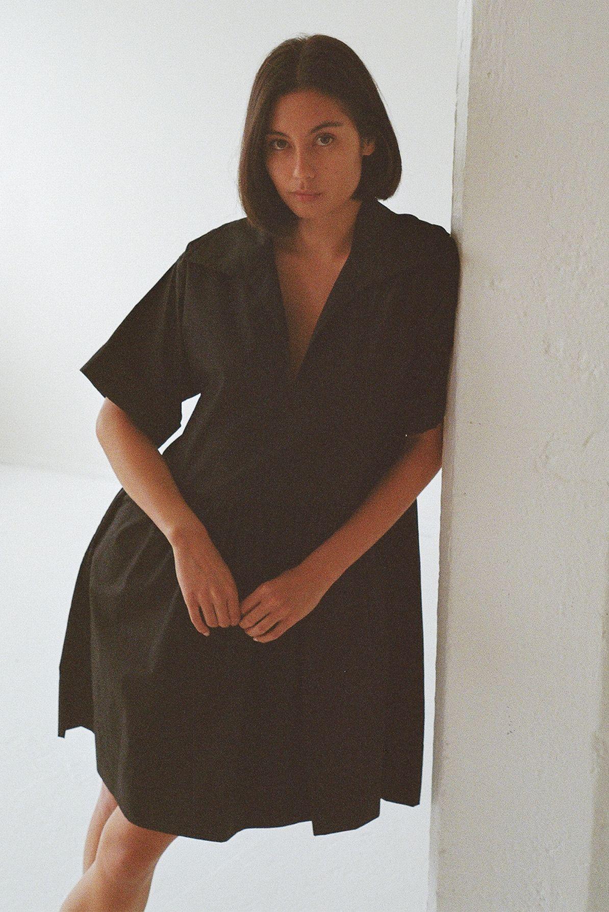 Daily dress - Black cotton poplin - Ellis Label_0049_83070015