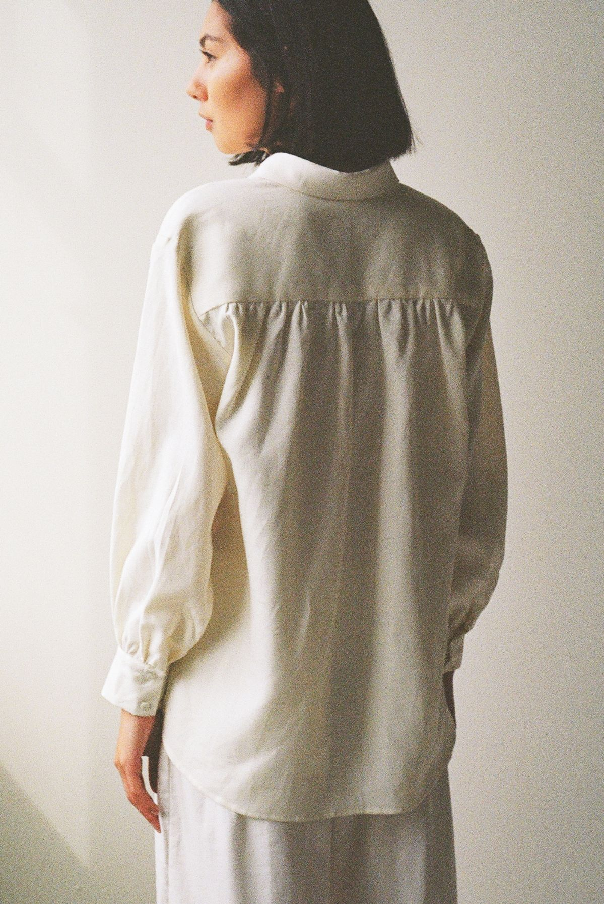 Mes shirt Ivory - Ellis Label - Linen - New Zealand clothing_0031_83090008