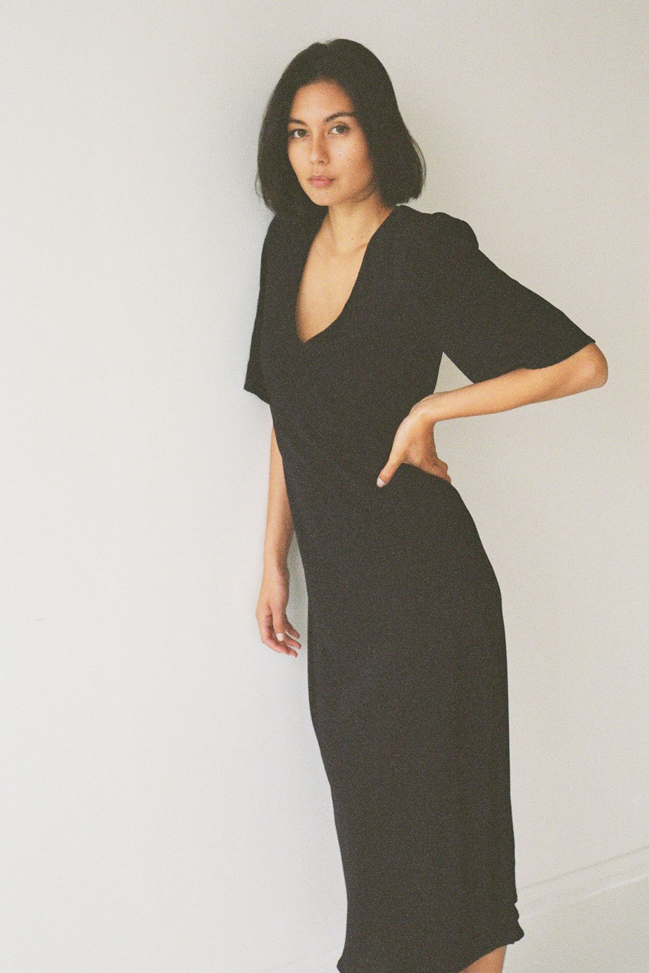 Paloma deux dress black silk - Ellis Label - Made to order womenswear - New Zealand_0059_82980028