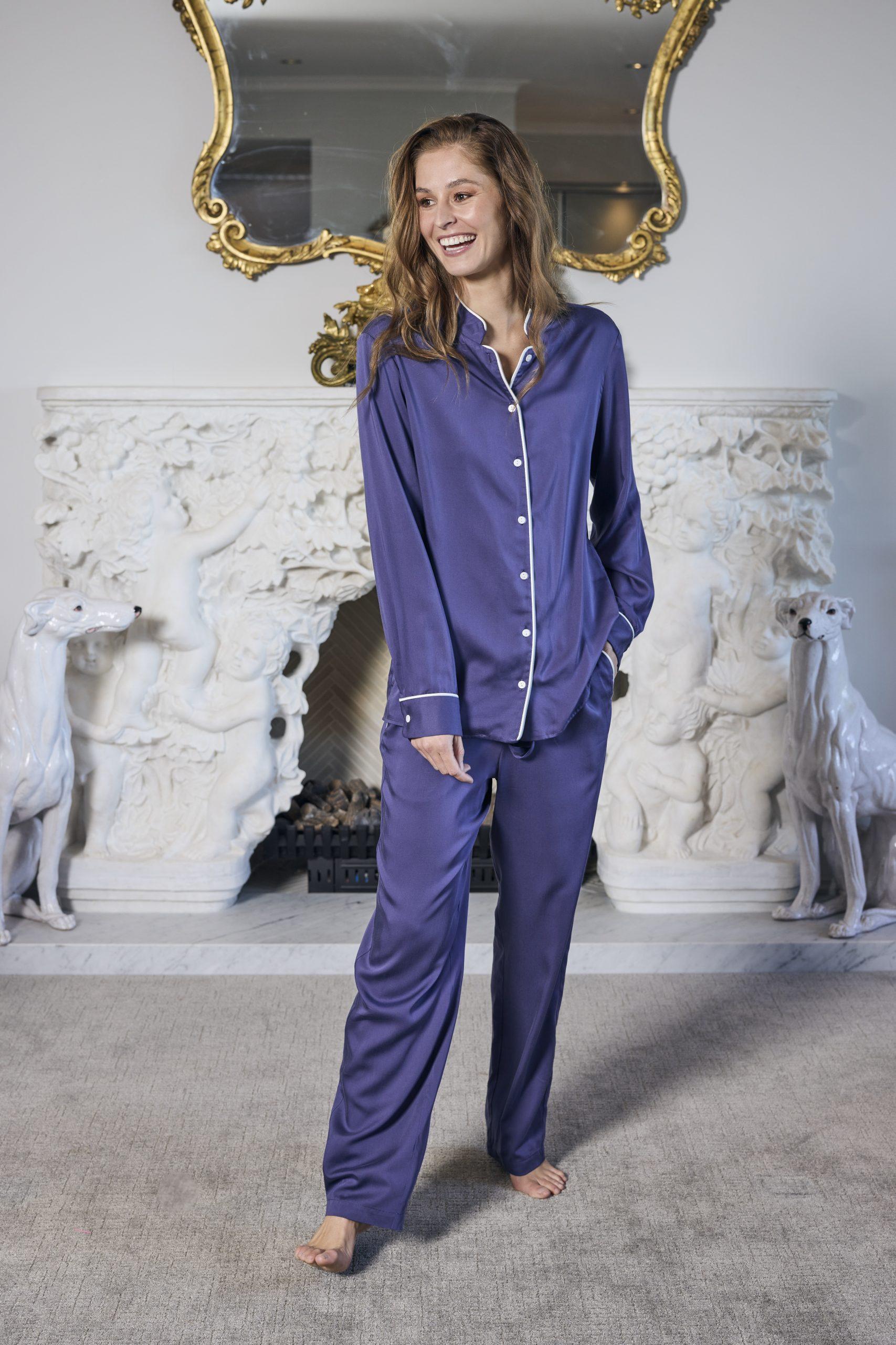 Pajama Shirt and Pajama Pant- Purple 2