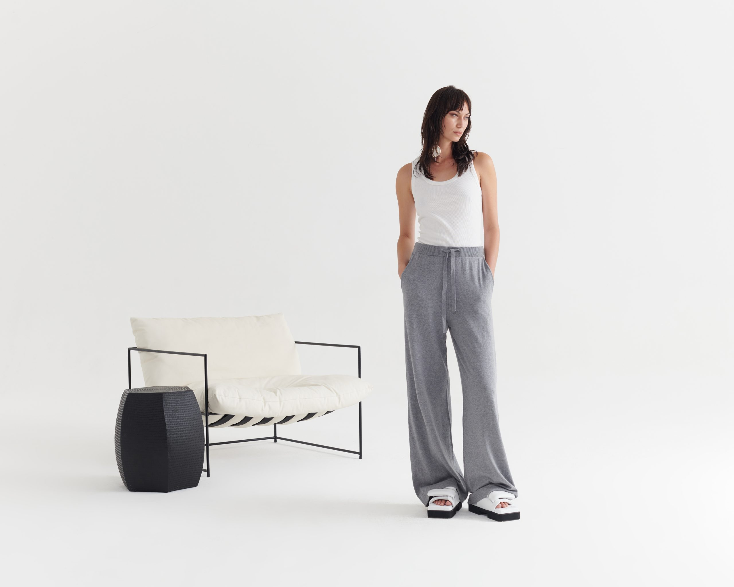 Evident-Tank-Ivory_Contentment-Pant-Pumice Grey_Taylor_Recline