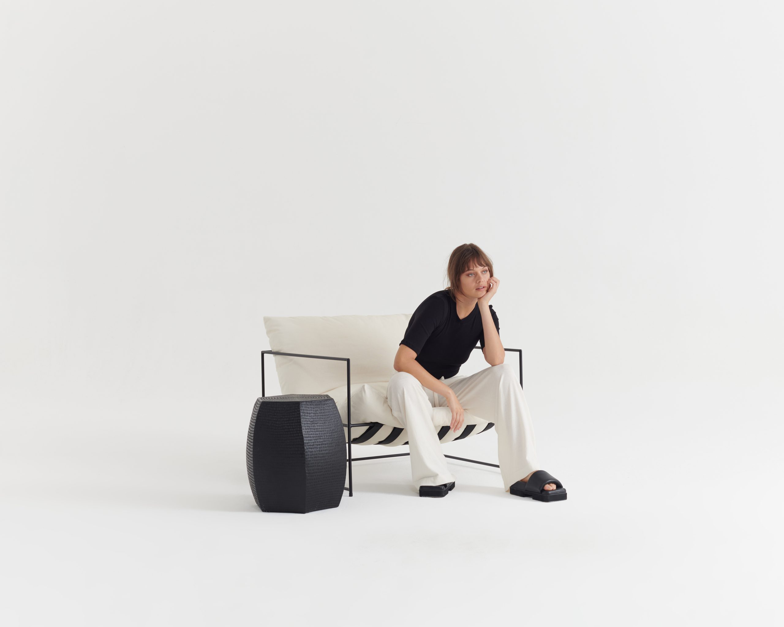 Necessary-Tee-Black_Contentment-Pant-Ivory_Taylor_Recline