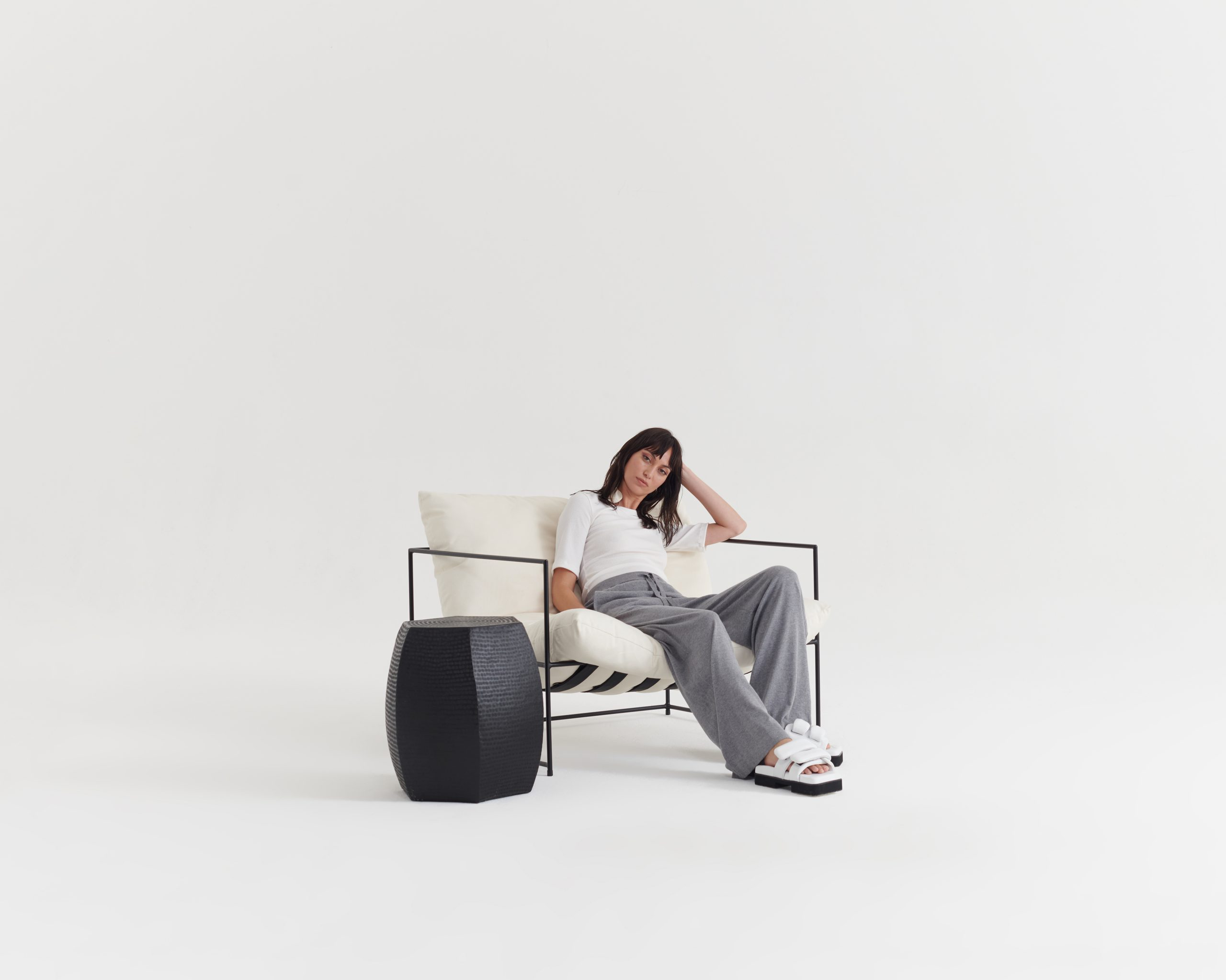 Necessary-Tee-Ivory_Contentment-Pant-Pumice Grey_Taylor_Recline