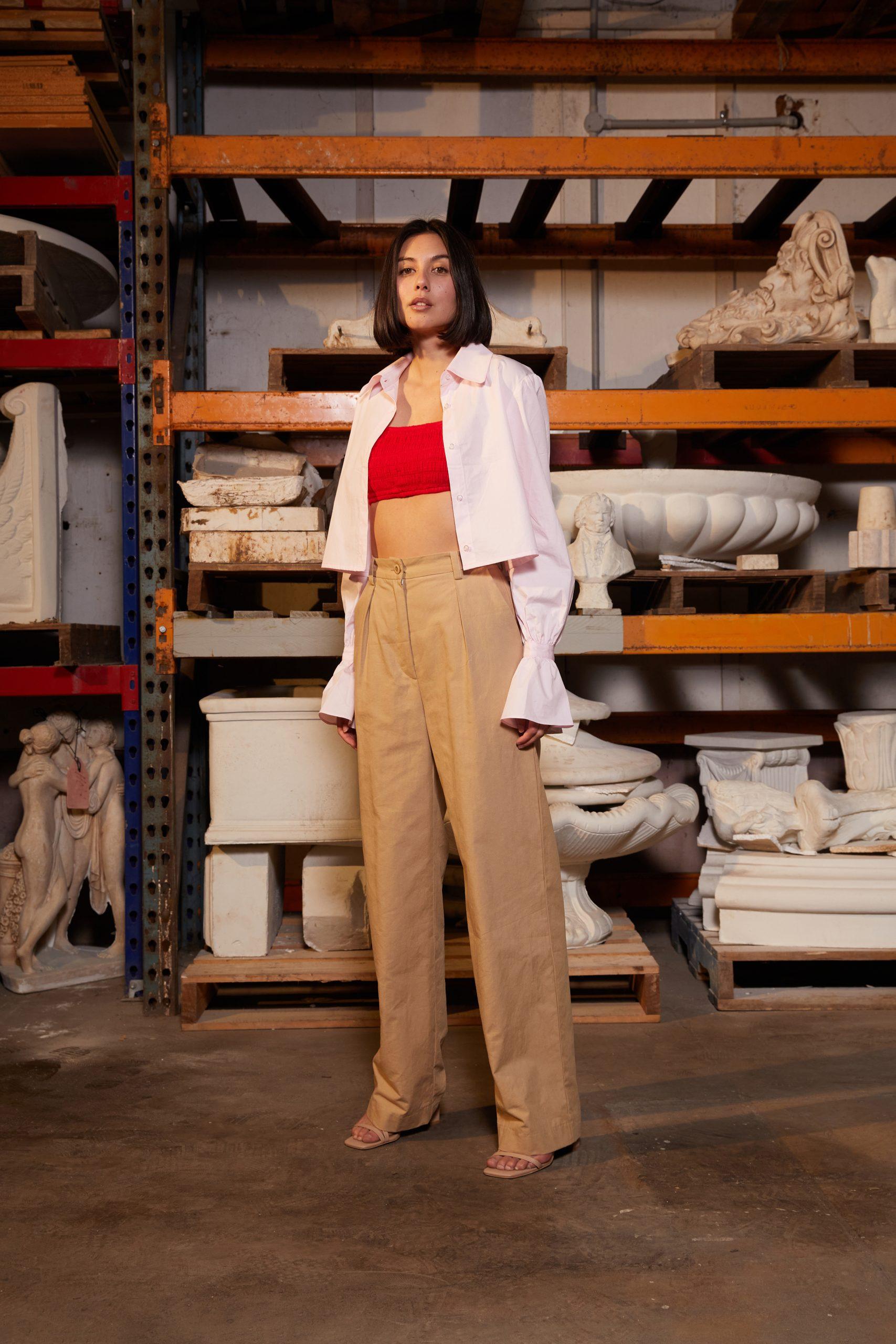 RUBY Mirella Bralette, Ladybug Crop Shirt, Rae Trouser