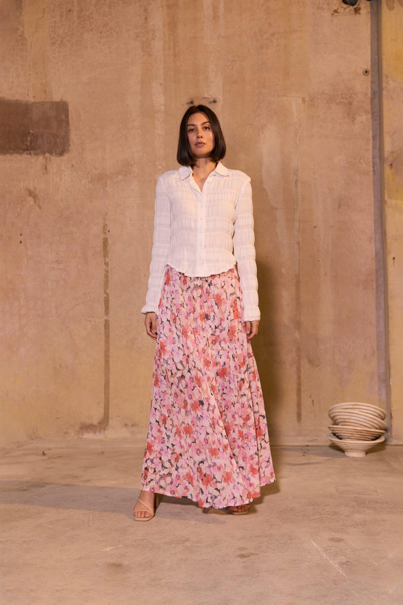RUBY Mirella Shirt, Aimee Pleat Skirt