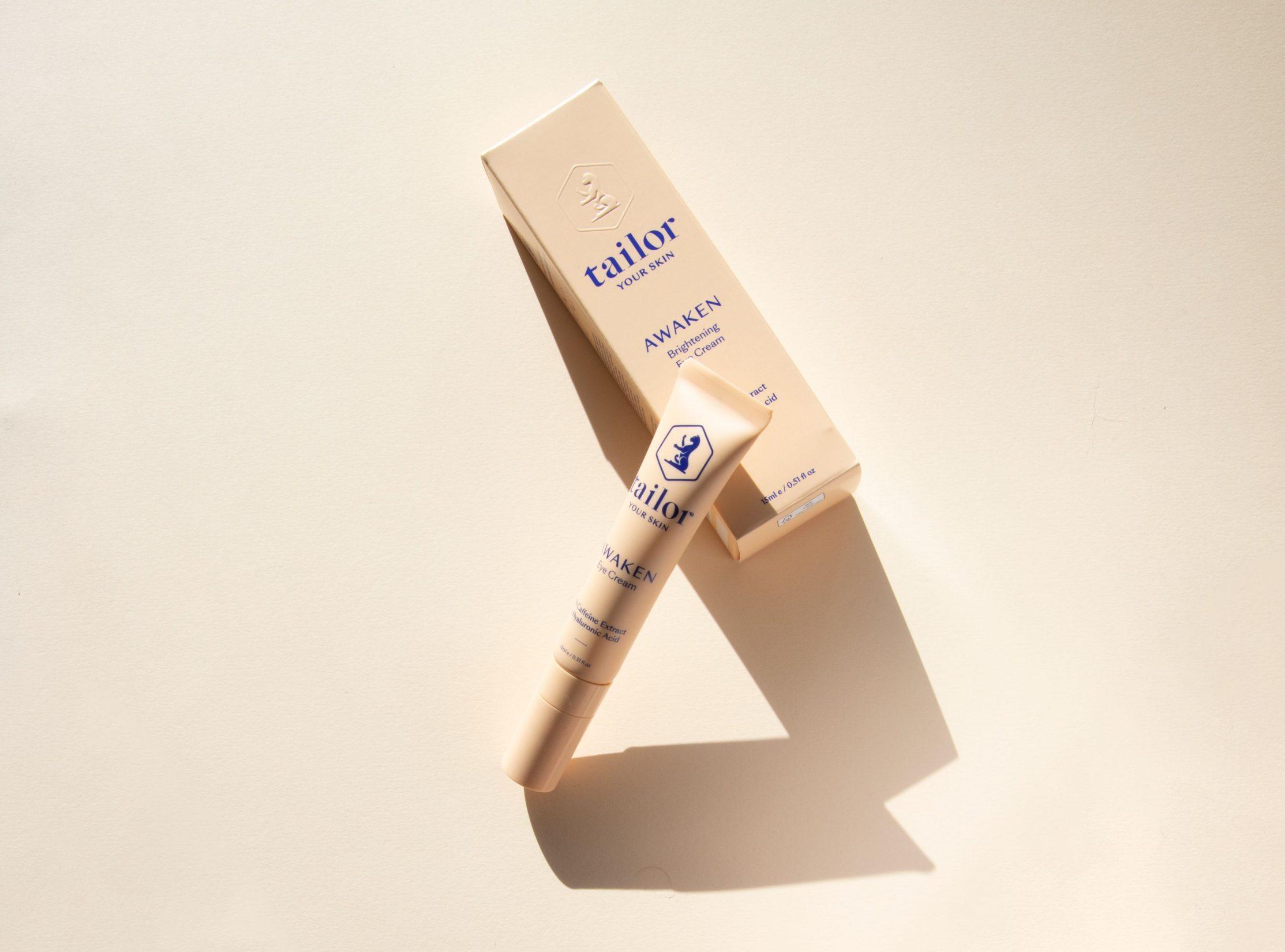tailor skincare eyecream box and product shot