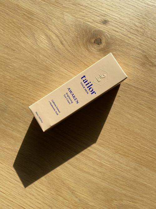Tailor skincare eyecream box