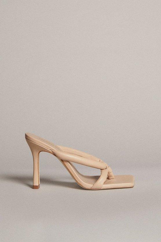 Karen Millen - cream-tubular-strap-premium-leather-sandal