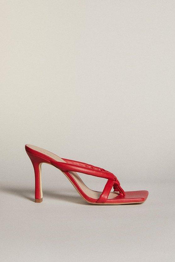 Karen Millen - red-tubular-strap-premium-leather-sandal