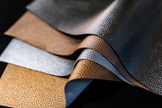 Leather fabric off cuts