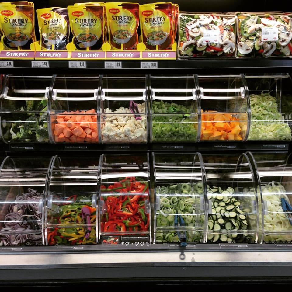 Pre-chopped veggies