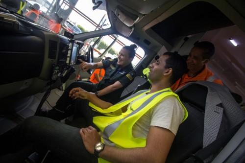 Team Inside Ambulance
