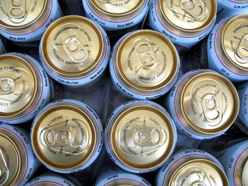 beer cans for alcohol